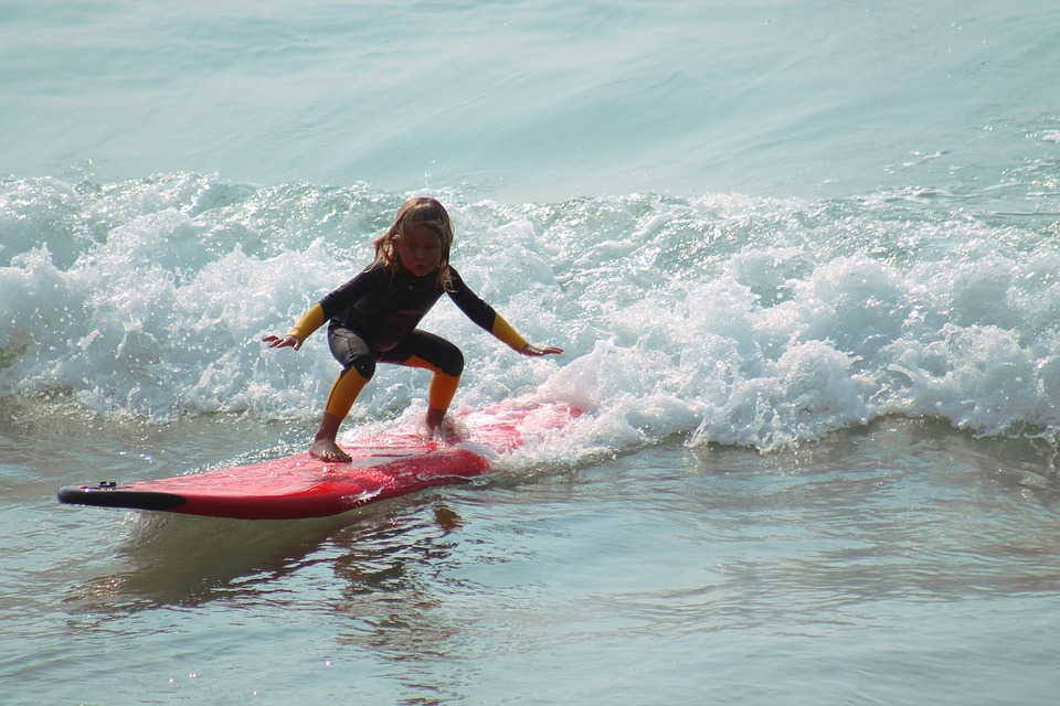 サーフィン 子供