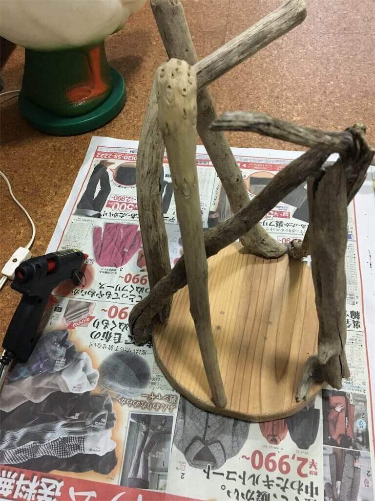 流木 手作り ランプ DIY