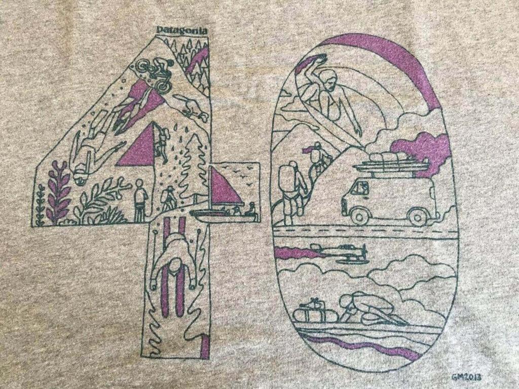 パタゴニア tシャツ 40周年