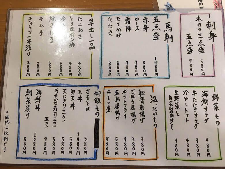 茅ヶ崎 高田 天ぷら 居酒屋 きらり 酒場